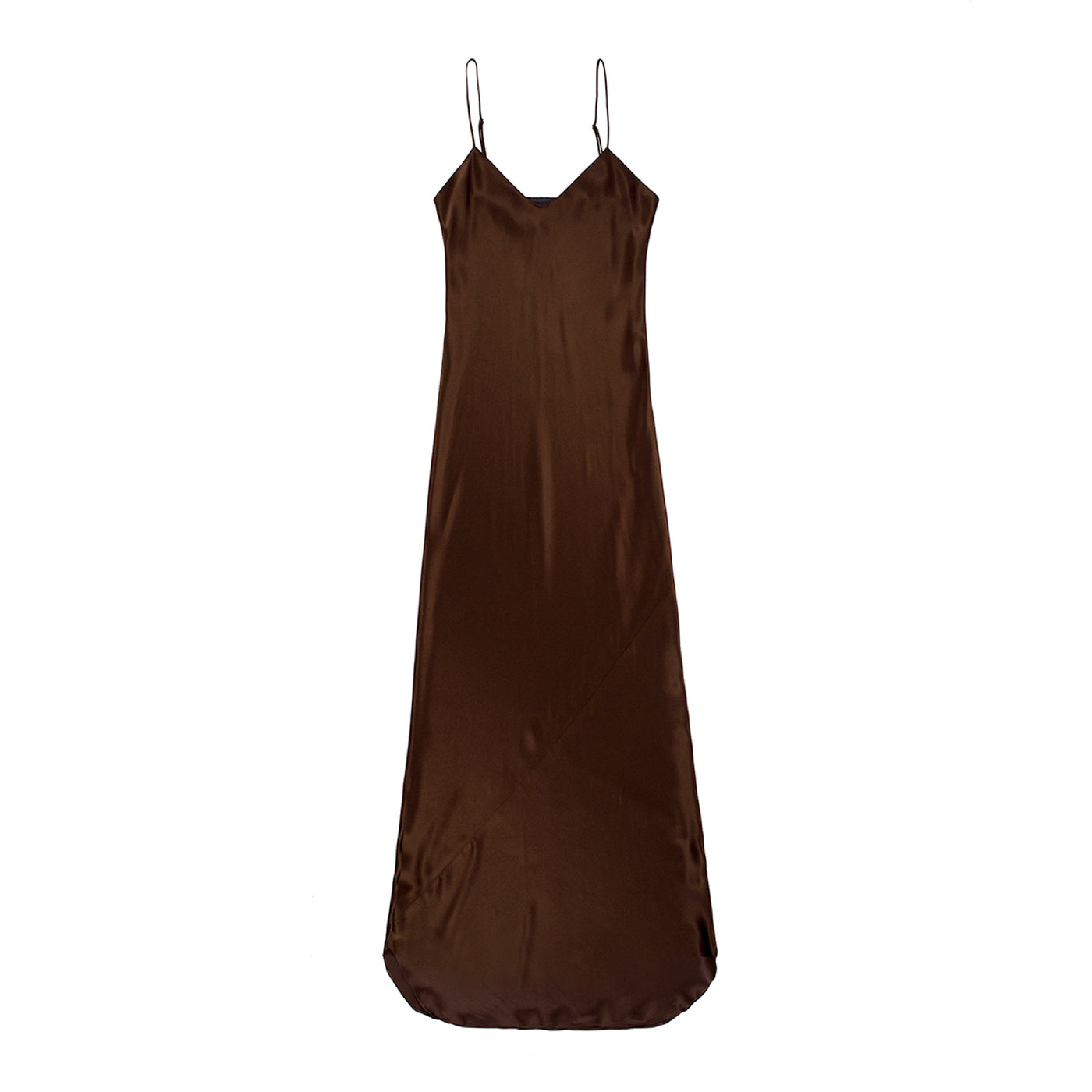 Load image into Gallery viewer, NILI LOTAN SILK CAMI GOWN BROWN