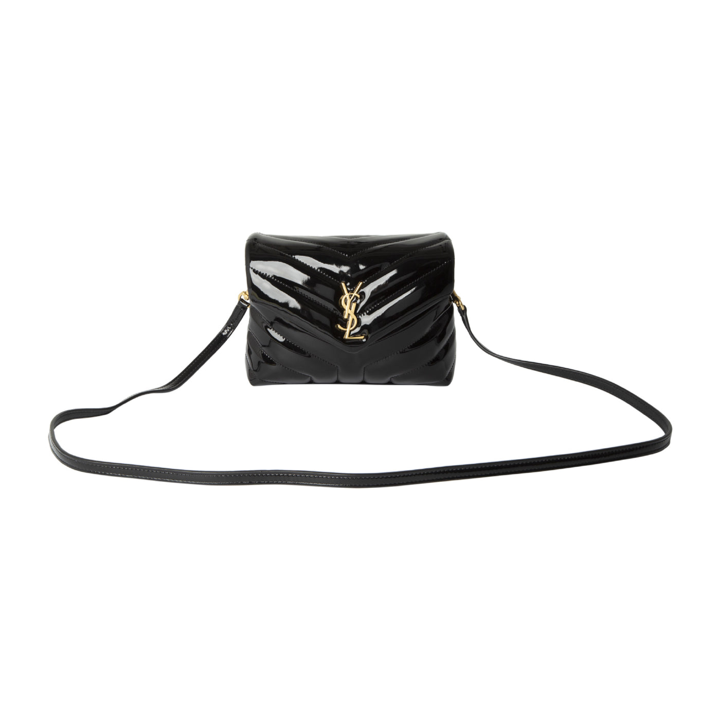 Load image into Gallery viewer, SAINT LAURENT PATENT MINI BAG BLACK
