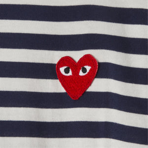 COMME DES GARCONS PLAY LONG-SLEEVE T-SHIRT NAVY