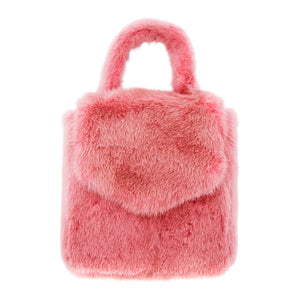 DUCKIE CONFETTI MINI FUR BAG PINK