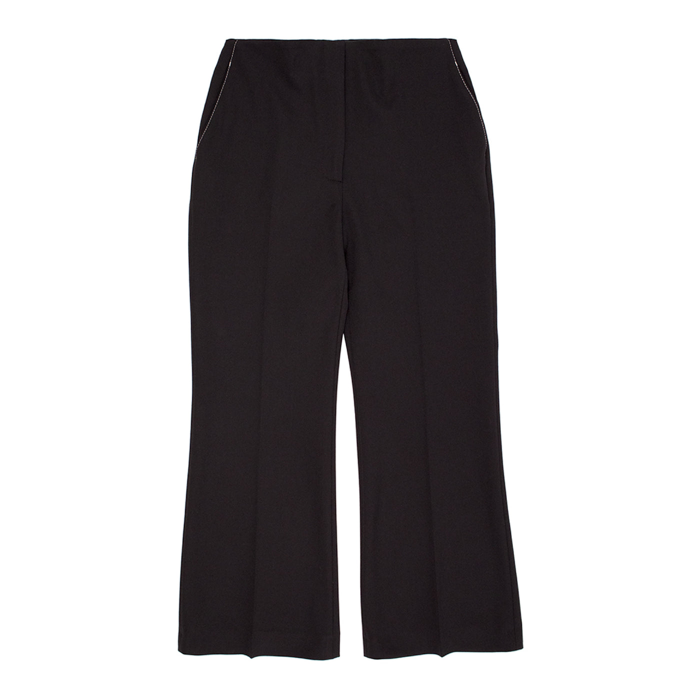 Load image into Gallery viewer, PROENZA SCHOULER CROPPED WOOL PANTS BLACK