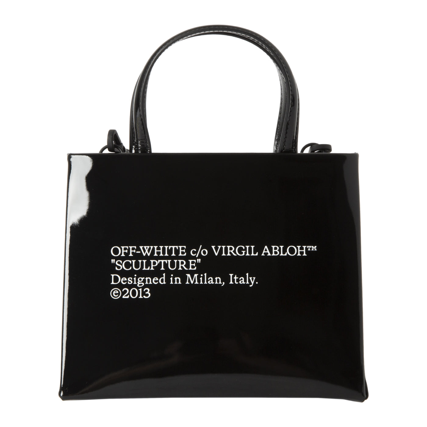 Load image into Gallery viewer, OFF WHITE TOP-HANDLE SATCHEL BLACK