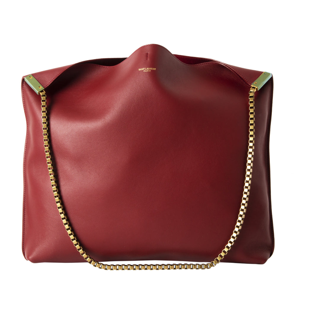 SAINT LAURENT CHAIN HOBO RED