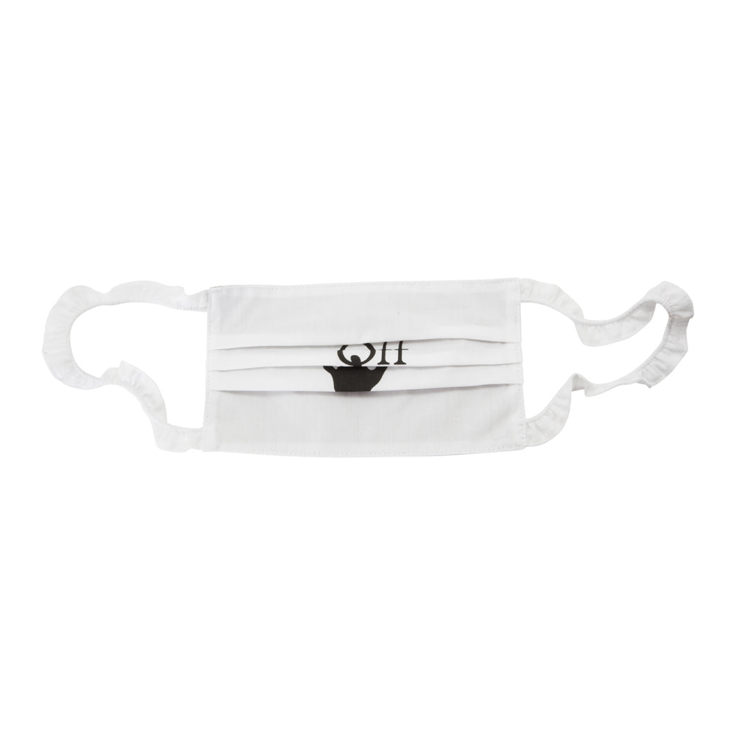 OFF-WHITE HAND OFF GRAPHIC FACE MASK WHITE