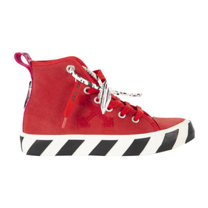 OFF-WHITE MID TOP VULCANIZED SNEAKER RED