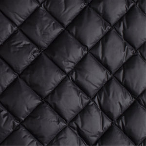 MONCLER QUILTED MIDI SKIRT BLACK