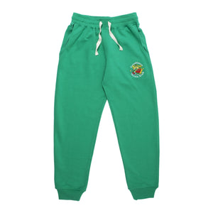 CASABLANCA TENNIS CLUB  EMBROIDERED PANT GREEN