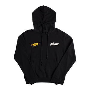 OFF-WHITE THUNDER SLIM HOODIE BLACK