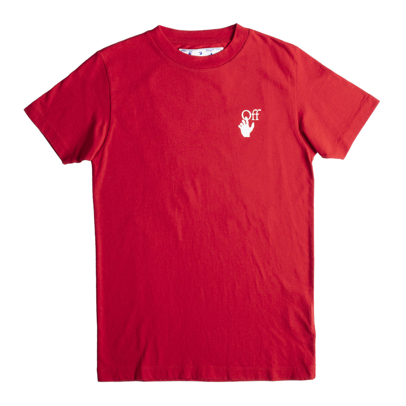 Load image into Gallery viewer, OFF-WHITE CUT HERE SLIM TEE RED