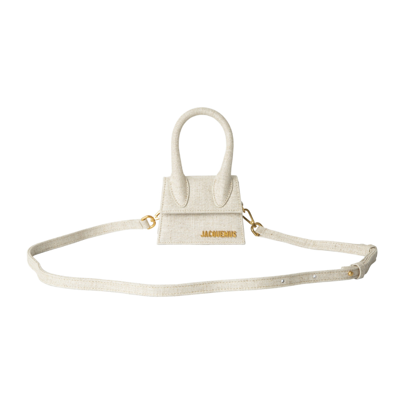 Load image into Gallery viewer, JACQUEMUS MINI LINEN-BLEND SATCHEL NEUTRAL