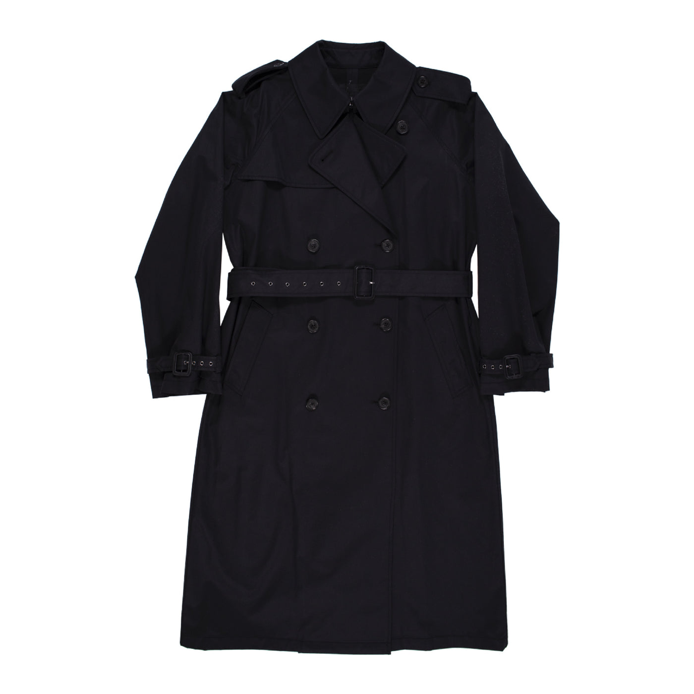 Load image into Gallery viewer, NILI LOTAN TANNER TRENCH COAT BLACK