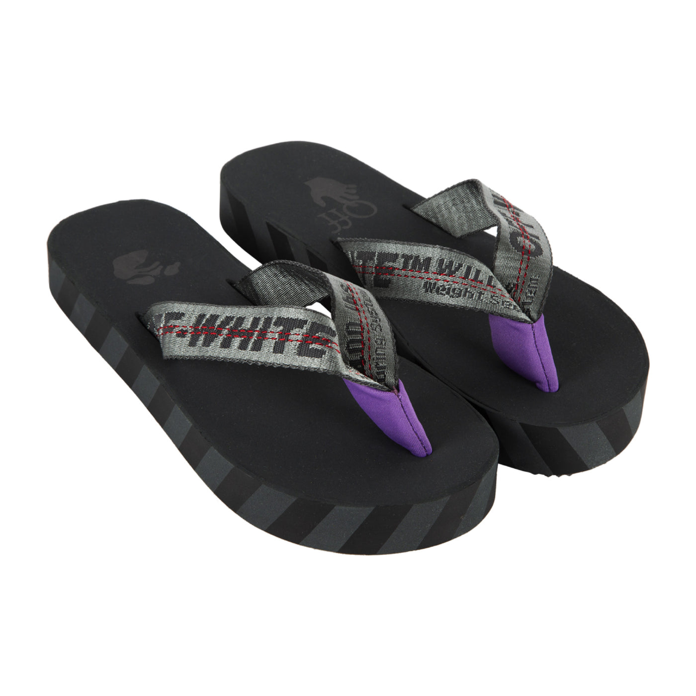 Load image into Gallery viewer, OFF-WHITE FLIP FLOP BLACK