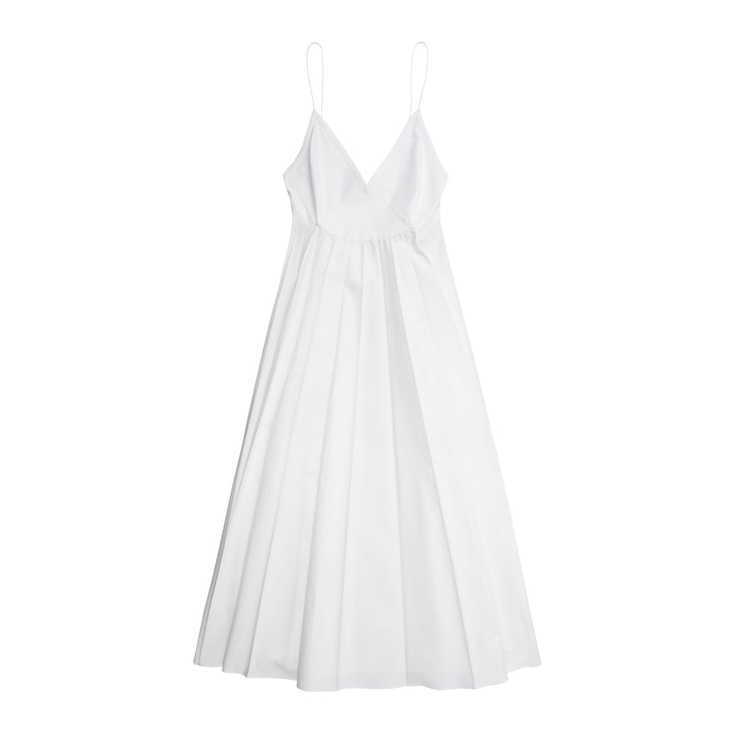 KHAITE LIANNE DRESS WHITE