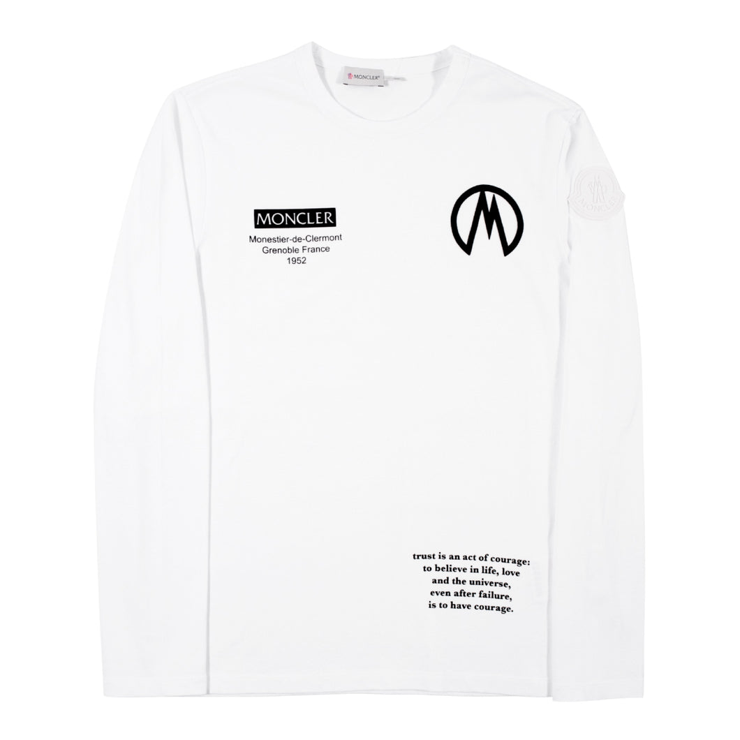 MONCLER LONG-SLEEVE T-SHIRT WHITE
