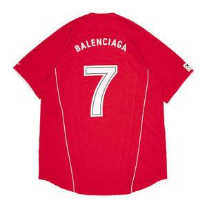 BALENCIAGA SOCCER T-SHIRT RED