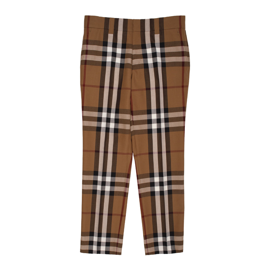 BURBERRY CROPPED TROUSER BROWN