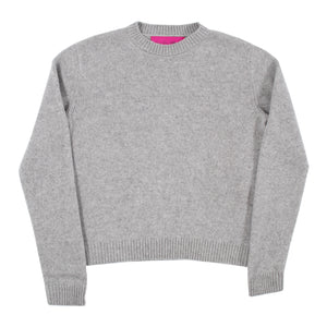 THE ELDER STATESMAN CROPPED SWEATER GREY