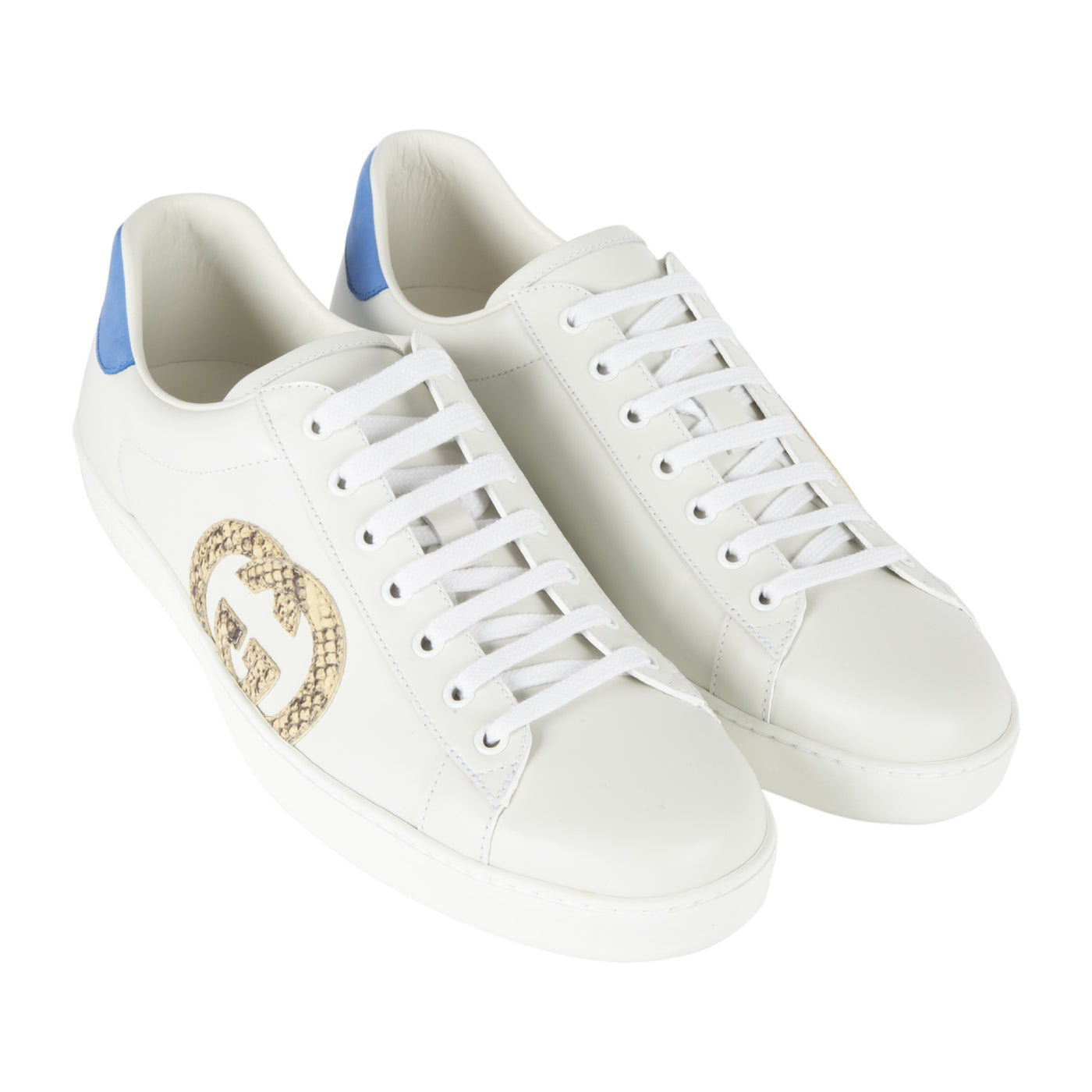 "Load image into Gallery viewer, GUCCI ""NEW ACE"" SNEAKER WHITE"