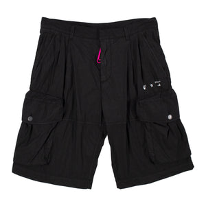 OFF-WHITE LOGO UTILITY SHORTS BLACK