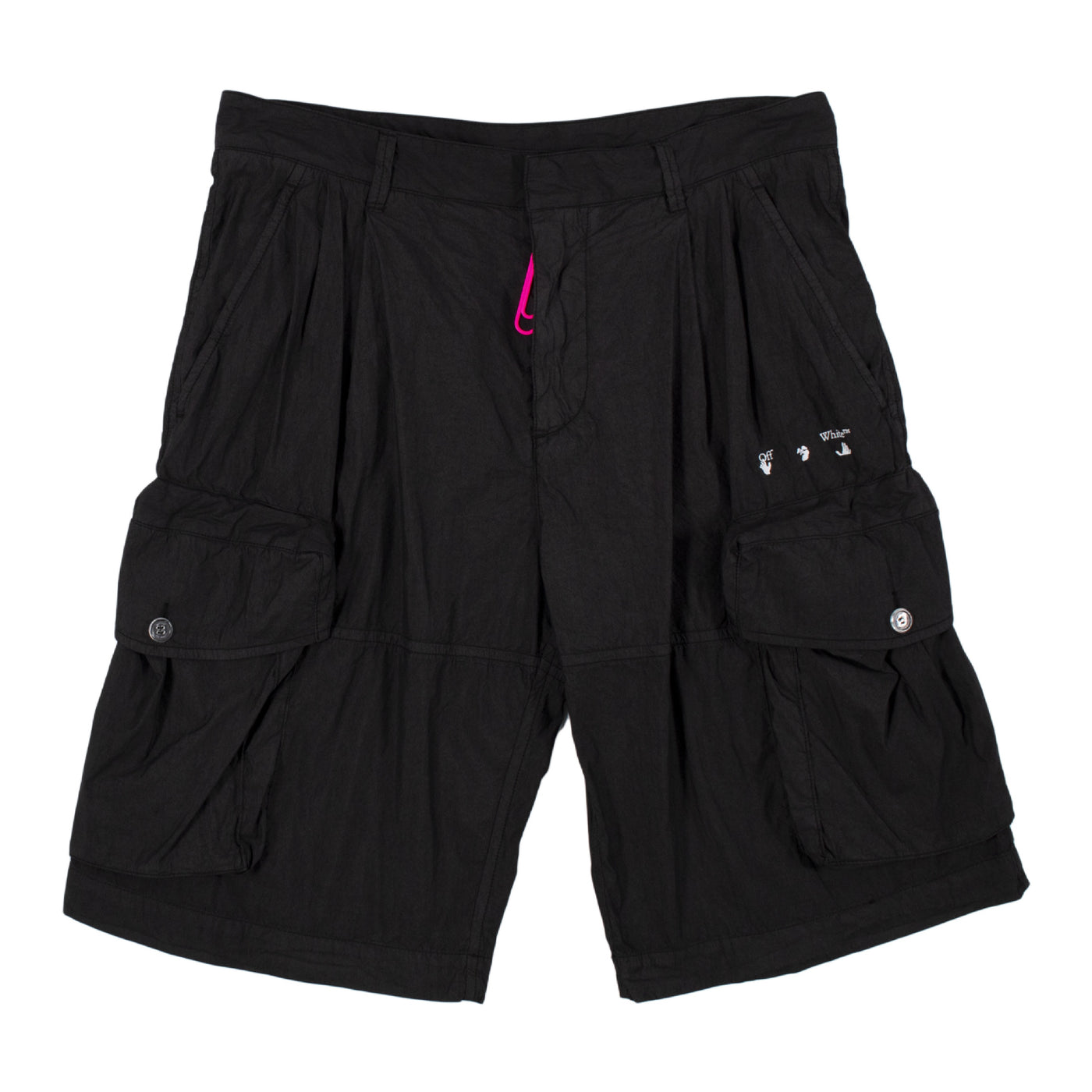 Load image into Gallery viewer, OFF-WHITE LOGO UTILITY SHORTS BLACK