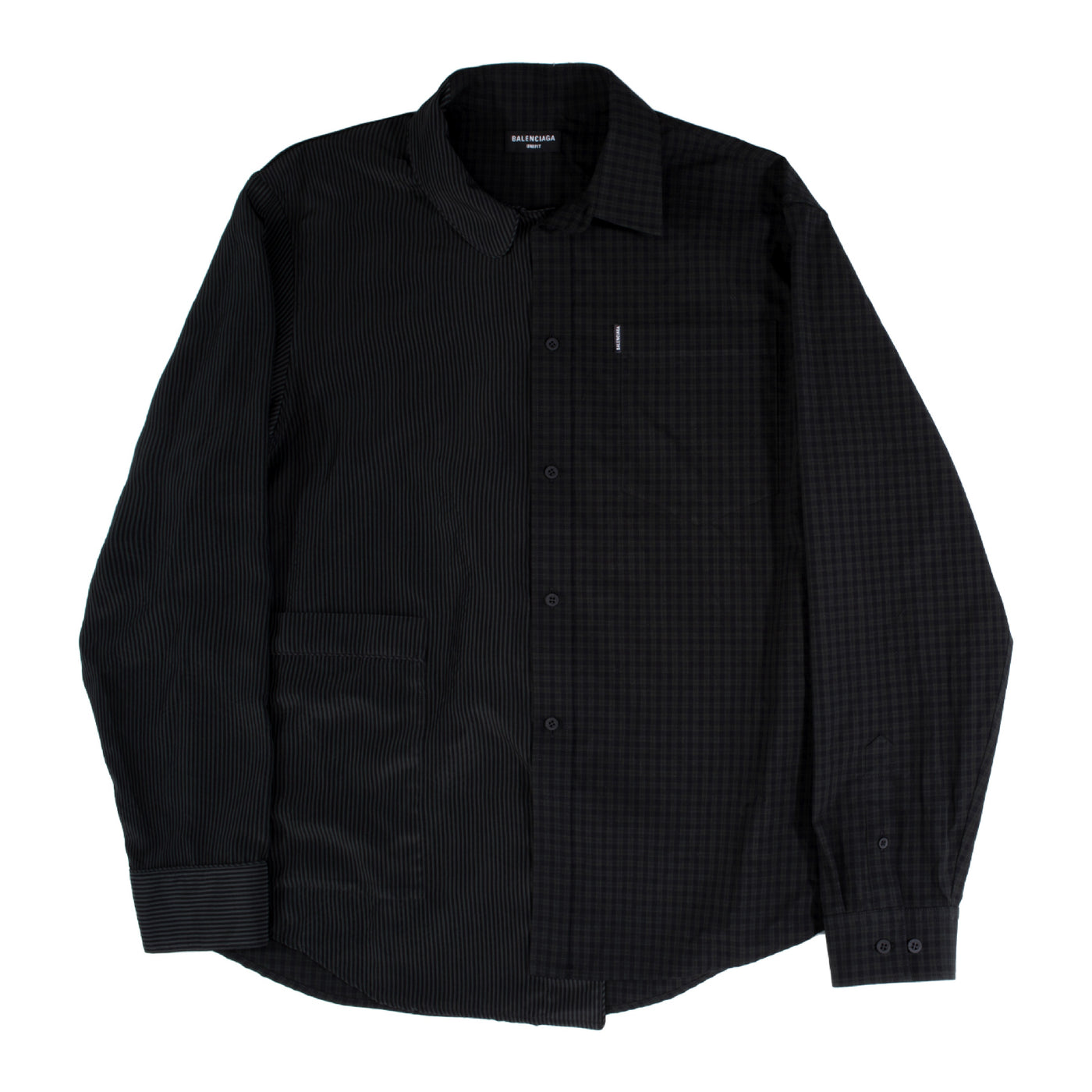Load image into Gallery viewer, BALENCIAGA 50-50 PAJAMA SHIRT BLACK