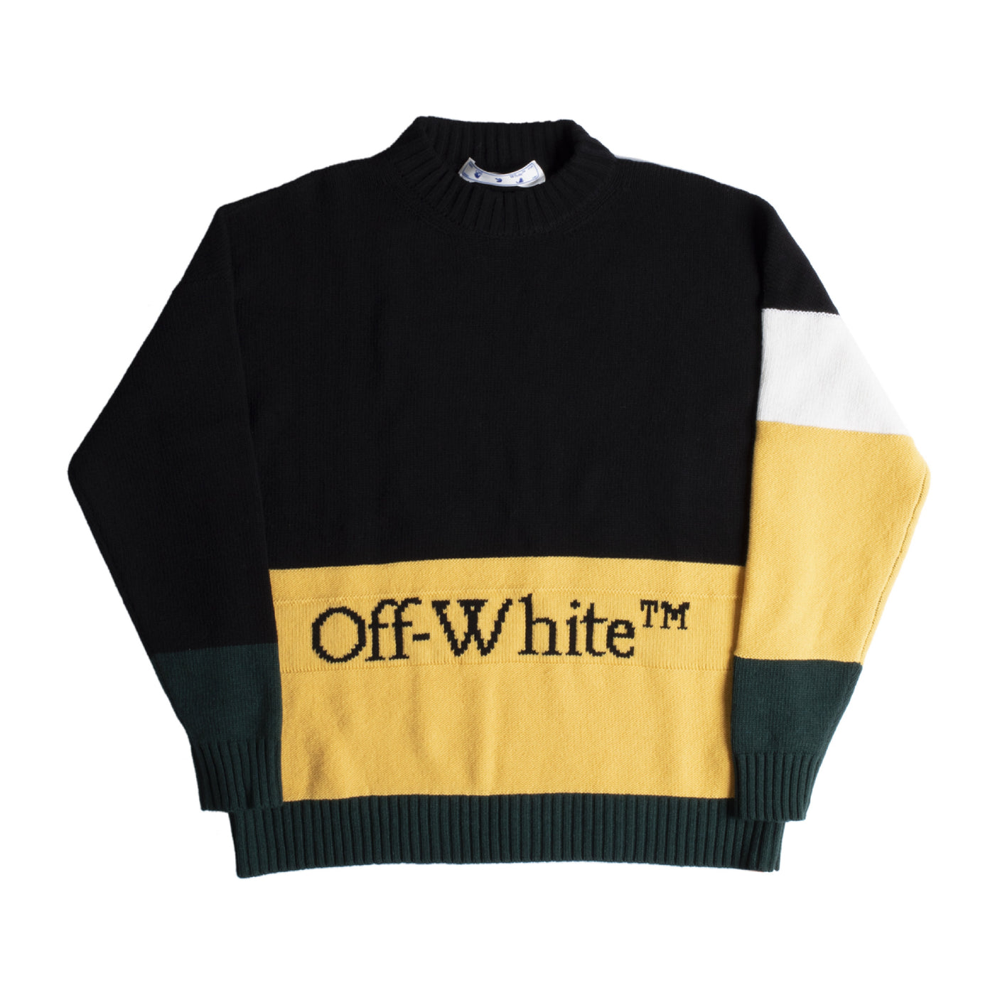 Load image into Gallery viewer, OFF-WHITE COLOR BLOCK CREWNECK BLACK