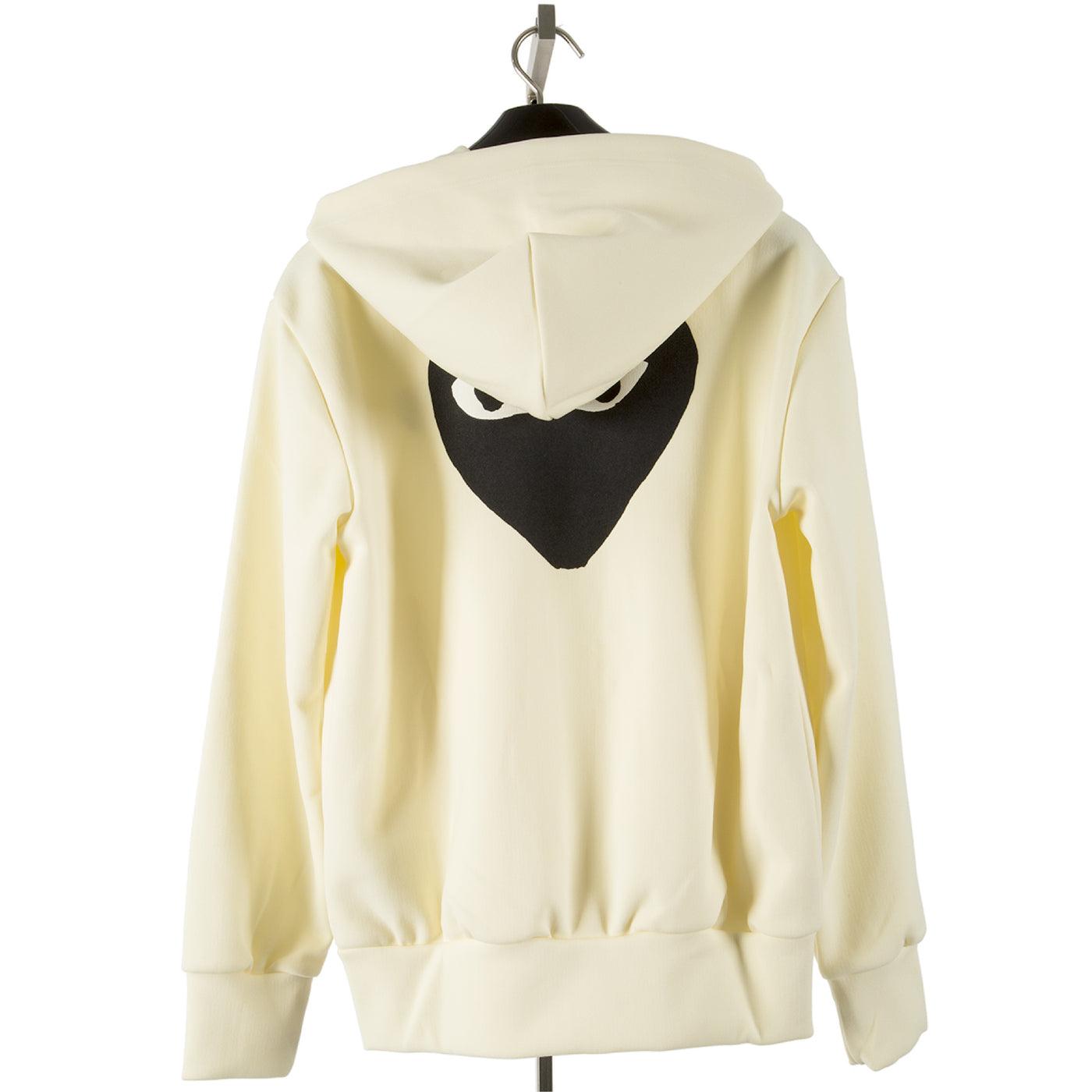 Load image into Gallery viewer, COMME DES GARCONS PLAY HOODED SWEATSHIRT WHITE
