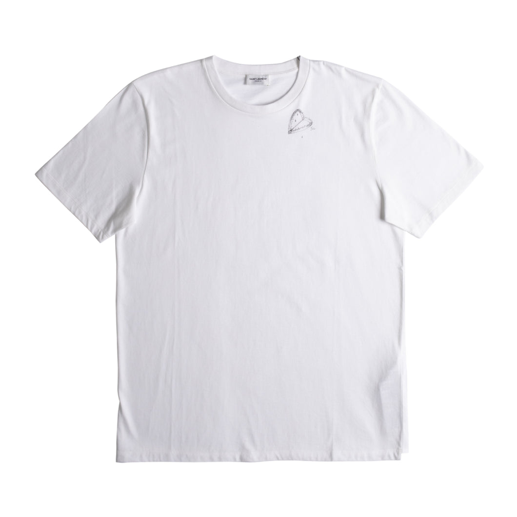 SAINT LAURENT ILLUSTRATED T-SHIRT WHITE