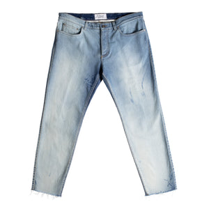 GIVENCHY CROPPED SKINNY FIT JEAN BLUE