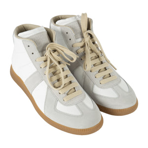 "MAISON MARGIELA ""REPLICA"" HIGH TOP SNEAKERS WHITE"