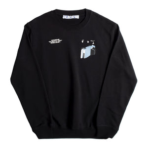 OFF-WHITE CARS COLLECTION CREWNECK BLACK