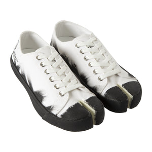 MAISON MARTIN MARGIELA TWO-TONE SNEAKERS WHITE