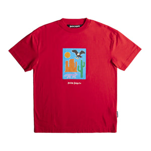 PALM ANGELS  NEW FOLK TEE RED
