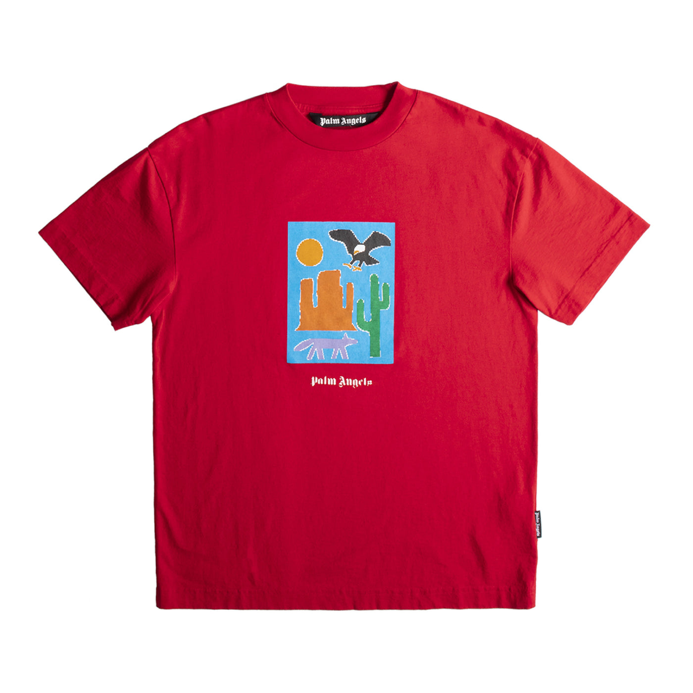 Load image into Gallery viewer, PALM ANGELS  NEW FOLK TEE RED