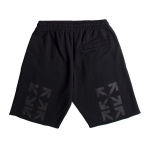 OFF-WHITE BLURRED MONA LISA SWEATSHORTS BLACK