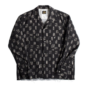 NEEDLES PATTERNED BUTTON-DOWN SHIRT BLACK