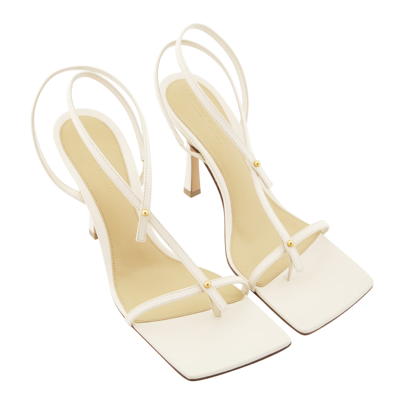 Load image into Gallery viewer, BOTTEGA VENETA STRAPPY SANDALS WHITE