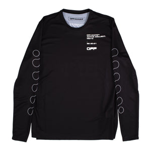 OFF-WHITE LS GRAPHIC TEE BLACK