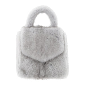 DUCKIE CONFETTI MINI FUR BAG GREY