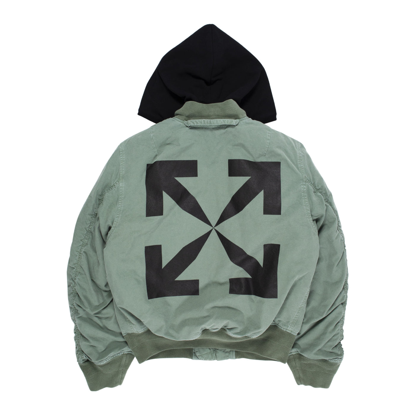 Load image into Gallery viewer, OFF-WHITE  VINTAGE BOMBER JACKET GREEN