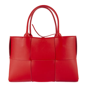 BOTTEGA VENETA ARCO TOTE RED