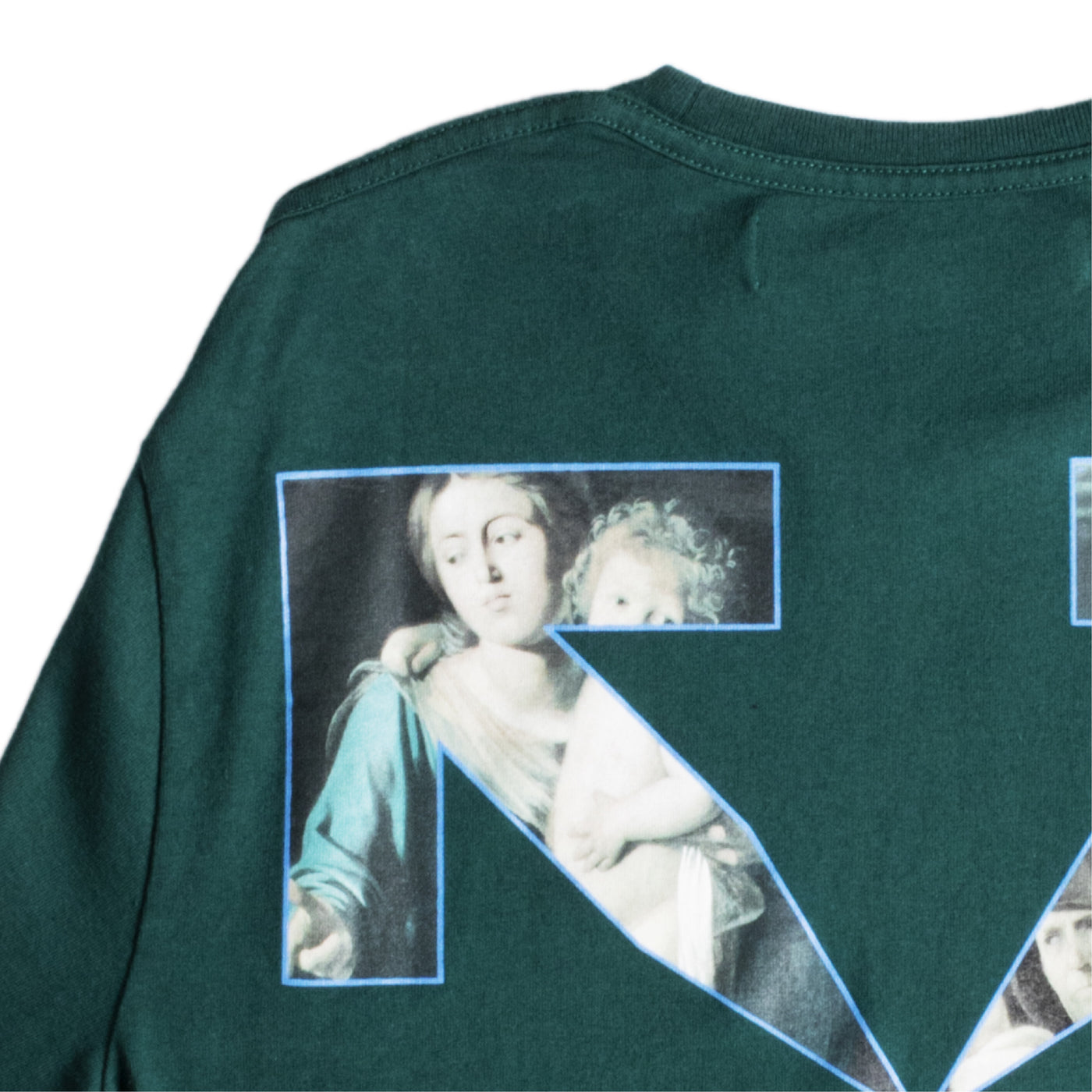 Load image into Gallery viewer, OFF-WHITE CARAVAGGIO PAINTING TEE GREEN