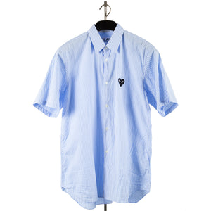COMME DES GARCONS PLAY BUTTON-DOWN SHIRT BLUE