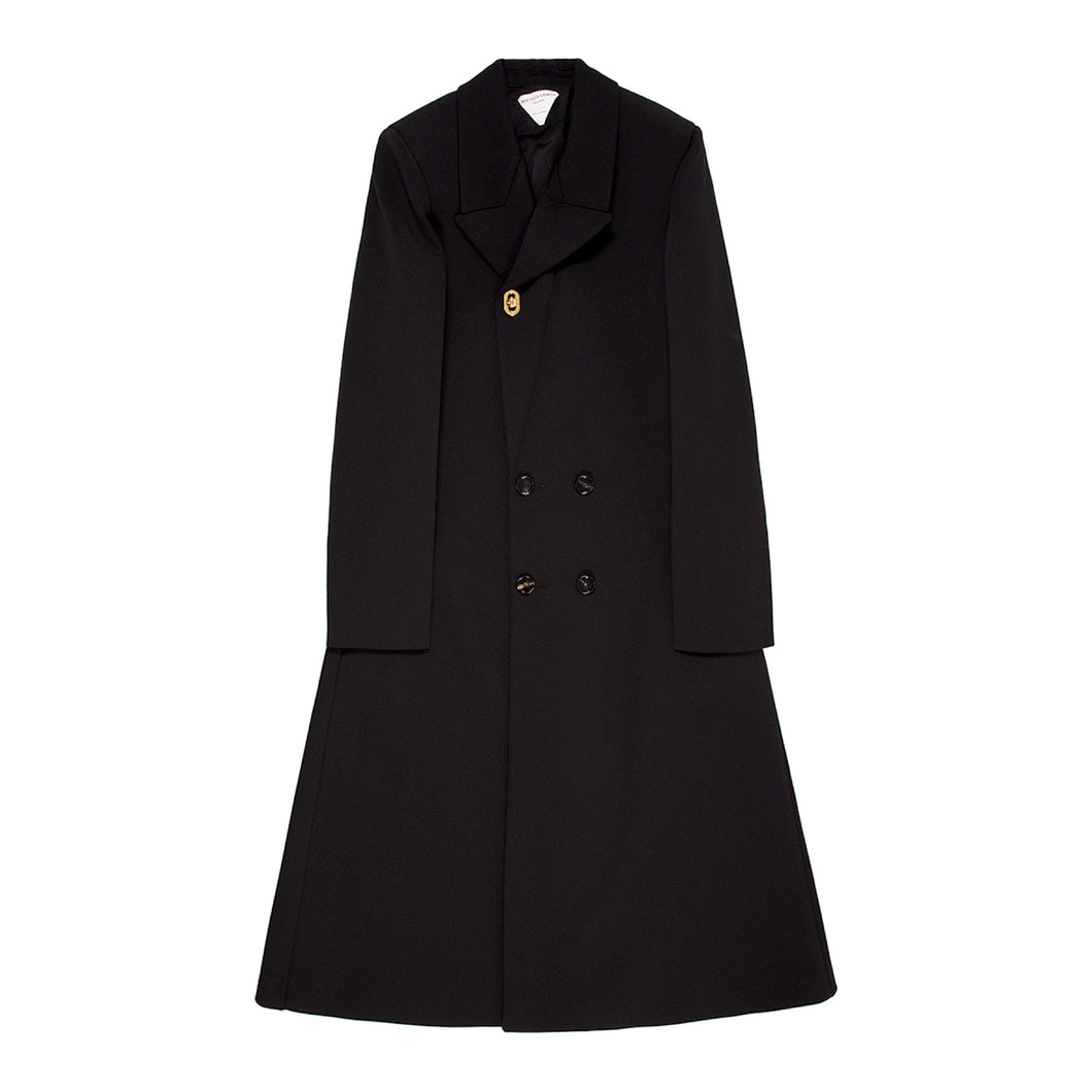 BOTTEGA VENETA TWILL COAT BLACK