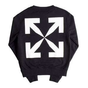 OFF-WHITE PASCAL PRINT SLIM CREWNECK BLACK