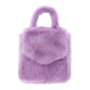 DUCKIE CONFETTI MINI FUR BAG PURPLE