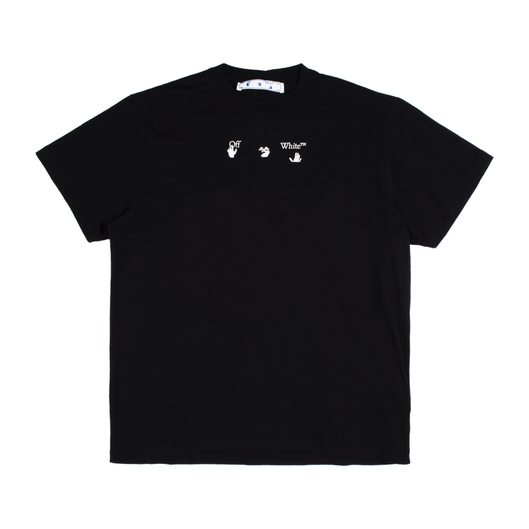 OFF-WHITE RED MARKER LOGO T-SHIRT BLACK