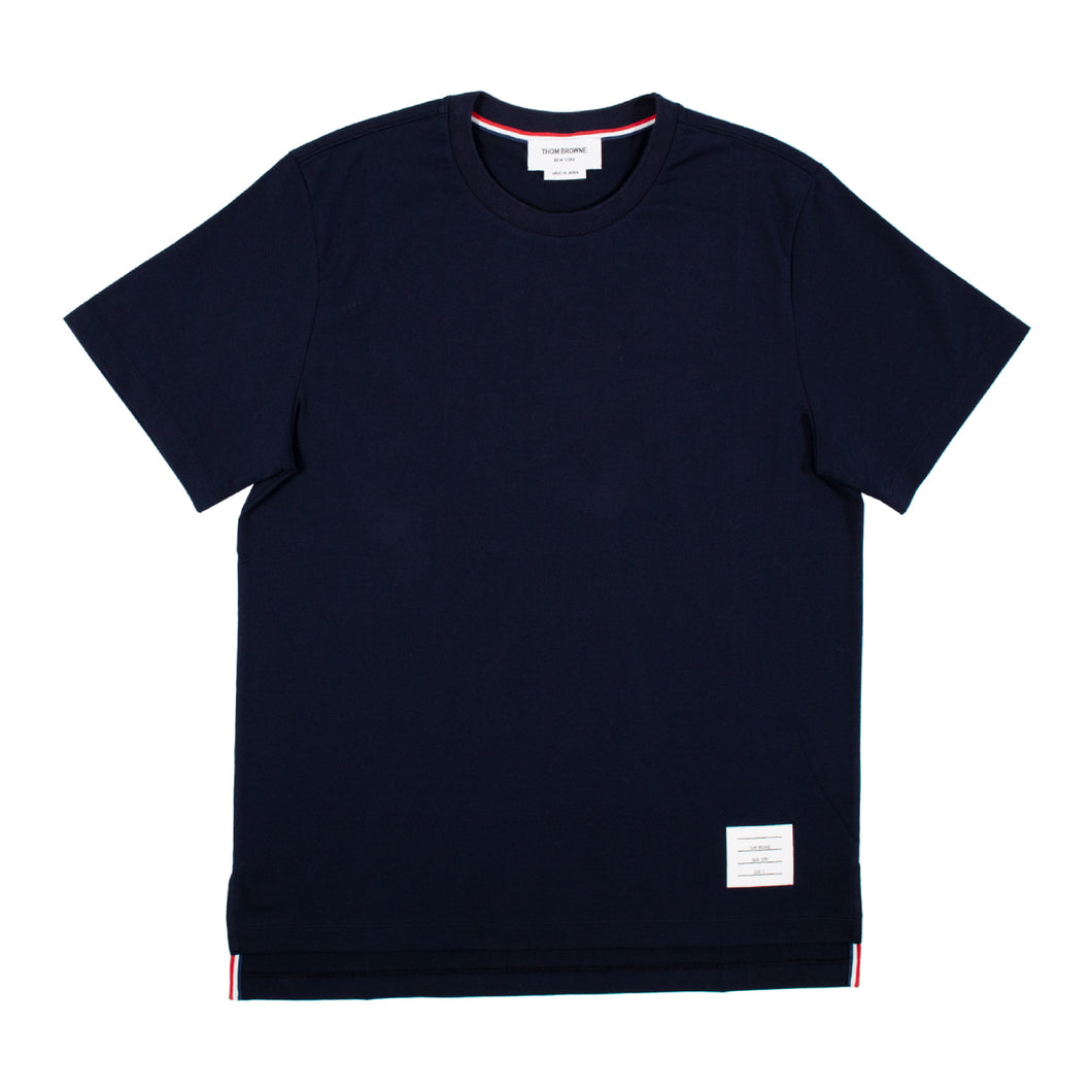 THOM BROWNE RELAXED-FIT T-SHIRT NAVY