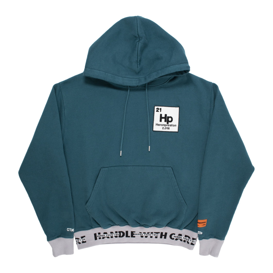 HERON PRESTON HOODIE HWC RIBBING TAPE BLUE