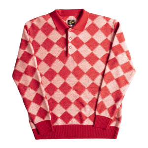 NEEDLES CHECKERED SWEATER RED